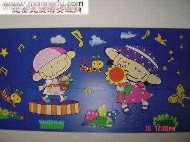 儿童作品墙装饰