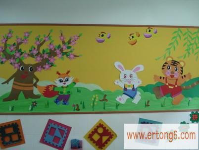幼儿园布置春游主题墙 幼儿园生日主题墙布置 幼儿园五一主题墙布置