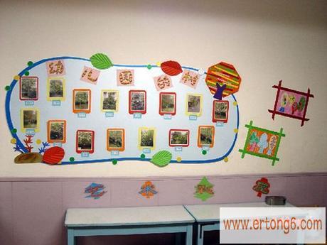 墙面布置:幼儿园的树