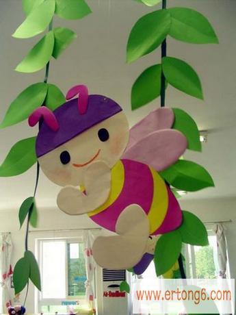 教室布置:一只小蜜蜂_幼儿园主题墙布置